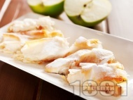 Пухкави банички от готови кори с ябълки и локум